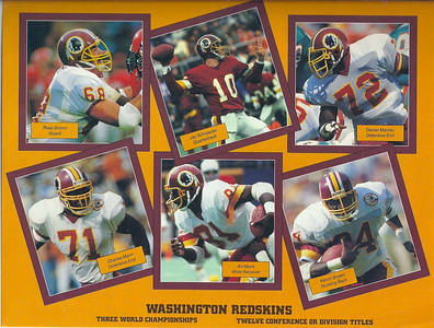 1987 NFL Super Fan Pack Sheet