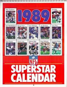 1989 Marketcom NFL Superstar Calendar
