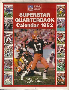 1982 Marketcom Superstar Quarterback Calendar