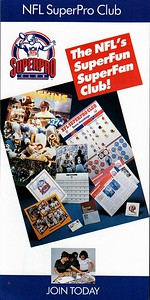 1984 NFL SuperPro Club Member Signup Form