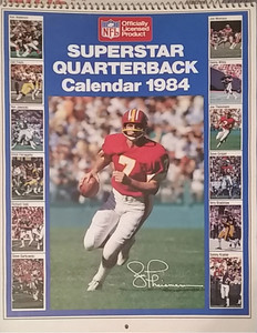 1984 Marketcom Superstar Quarterback Calendar