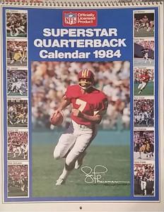 1984 Marketcom Superstar Quarterback Calendar