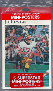 1981 Joe Theismann Marketcom Mini-Posters Package