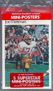 1981 Joe Theismann Marketcom Mini-Posters Package