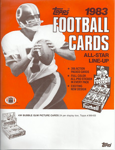 1983 Topps Football Cards Promo Poster