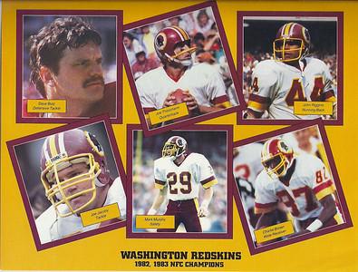 1984 NFL Super Fan Pack Sheets
