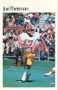 1981 Marketcom Mini Posters Joe Theismann
