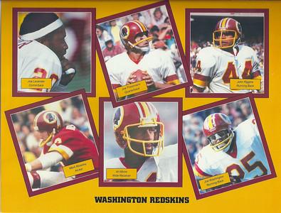 1982 NFL Super Fan Pack Sheet