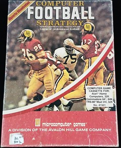 1982 Sports Illustrated Microcomputer Games Computer Football Strategy