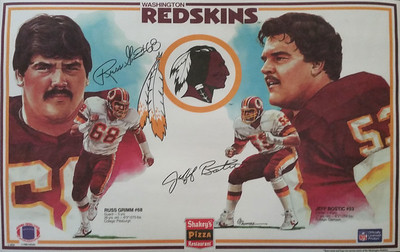 1985 Shakey's Pizza Placemats Russ Grimm and Jeff Bostic