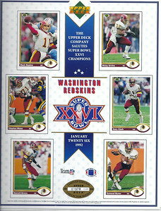 1992 Upper Deck Super Bowl Sheet