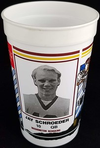 Jay Schroeder 1986 Coca-Cola Football Fever Cup
