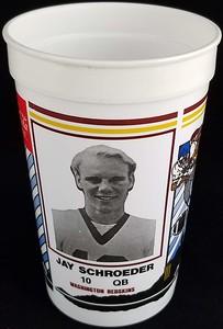 Jay Schroeder 1986 Coca-Cola Football Fever Cup