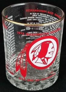 Redskins 1973 Glass