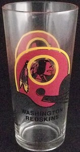 1970s Redskins Holly Farms Glass Cup