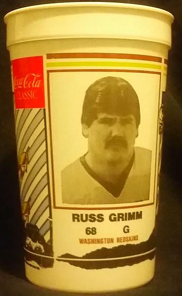 Russ Grimm 1984 Coca-Cola Football Fever Cup
