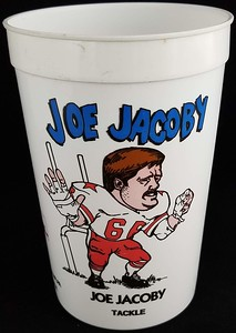 Joe Jacoby 1991 7-Eleven Super Big Gulp Cup