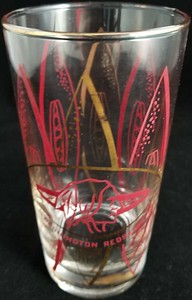 1960s Hedy 5.5 inch Redskins Glass
