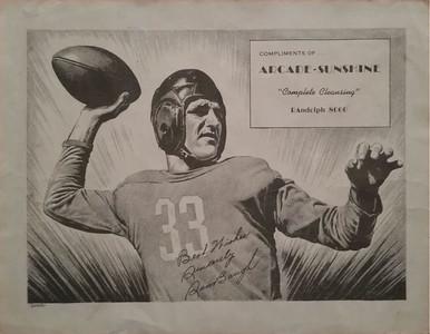 Sammy Baugh 1948 Arcade-Sunshine Laundry Premium