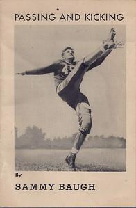 Montgomery Wards Booklet Sammy Baugh