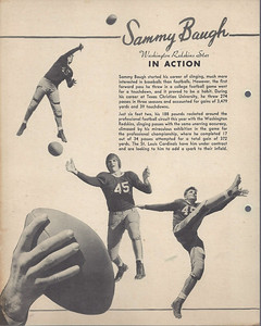 1938 Dixie Lids Premiums Sammy Baugh Back