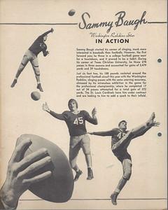 1938 Dixie Lids Premiums Sammy Baugh Back