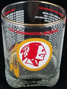 Redskins 1976 Glass