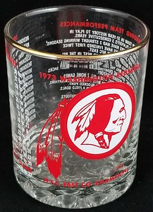 Redskins 1973 Glass