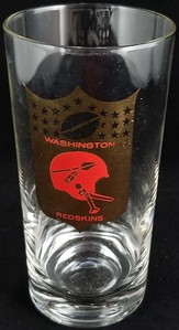 Redskins 1967 Glass