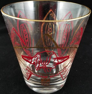 1960s Hedy 4 inch Redskins Glass