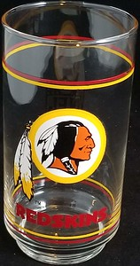 1989 Mobil Gas Redskins Glass