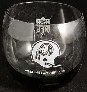Redskins 1972 Mobil Gas Promo Glass