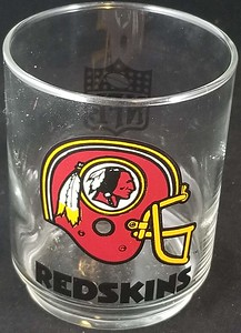 1985 Mobil Gas Redskins Glass