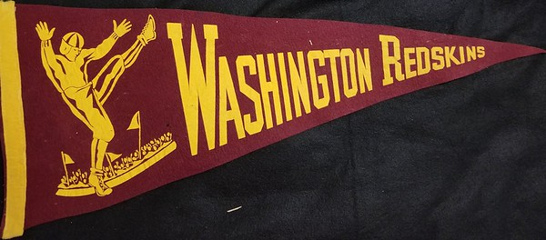 1960s Punter Redskins Pennant