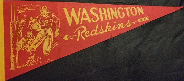 1940s Running Back Redskins Pennant