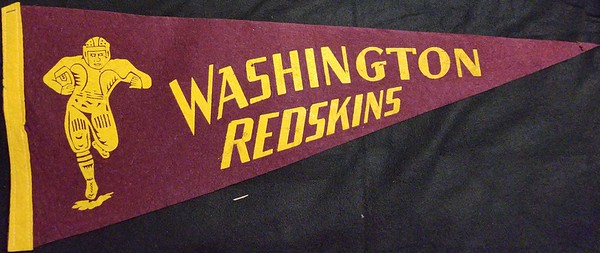 Running Back Maroon Redskins Pennant