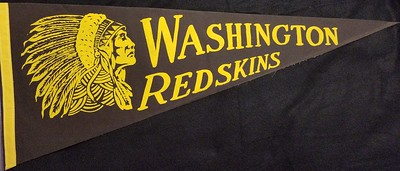 Black Chief Redskins Pennant
