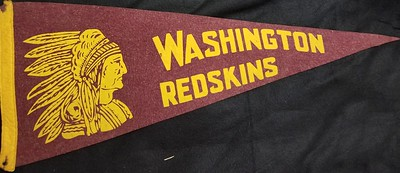 1940s Redskins Pennant