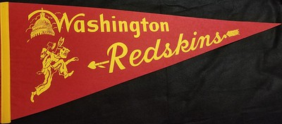 1940s Warrior Redskins Pennant