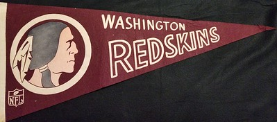 1960s Head Logo Redskins Pennant