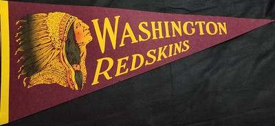 1950s ChiefHead Up Maroon Redskins Pennant