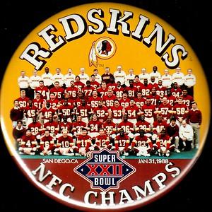 1988 Super Bowl XXII NFC Champs Redskins Pin