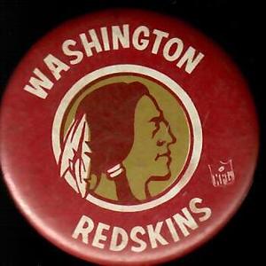 1960s Redskins Head Logo Pin