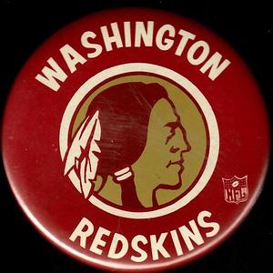 1960s Redskins Logo Pin