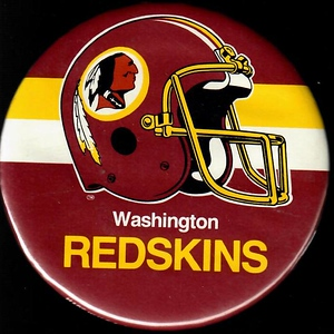 1980s Redskins Helmet Pin
