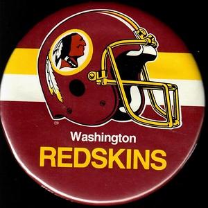 1980s Redskins Helmet Pin