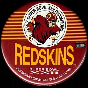 1988 Super Bowl XXII Champions Redskins Pin