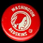 1960s Redskins Logo Pin