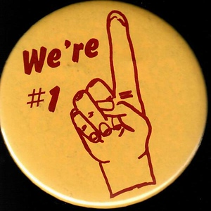 "1980s Redskins ""We're # 1"" Pin"