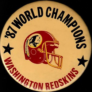 1988 Champions Redskins Pin
